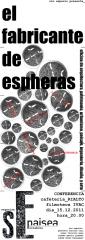 cartel conferencia el fabricante de espheras _ sin Espacio