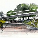 boceto puente