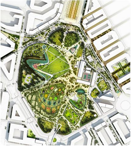 Exposici n concurso parque central de valencia paisea for West 8 architecture