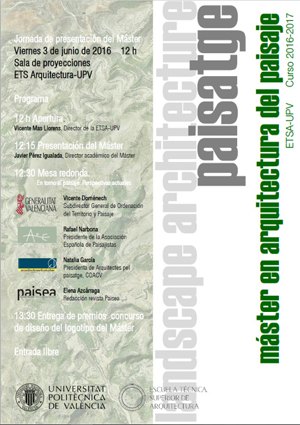 Calendario Etsa Upv.Master En Arquitectura Del Paisaje Paisea